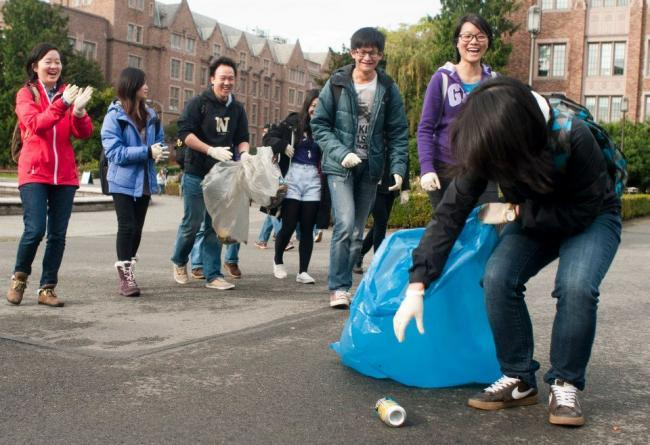 Campus cleanups are fun activities which you and your schoolmates can engage in! | Image source: UW.edu
